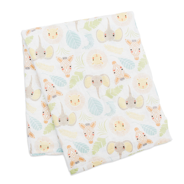 lulujo Cotton Muslin Receiving Blanket (Jungle)