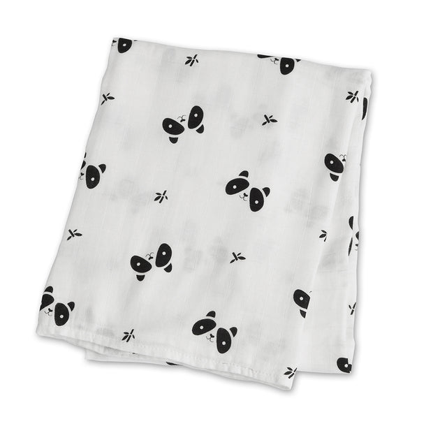 lulujo Bamboo Receiving Blanket (Panda)