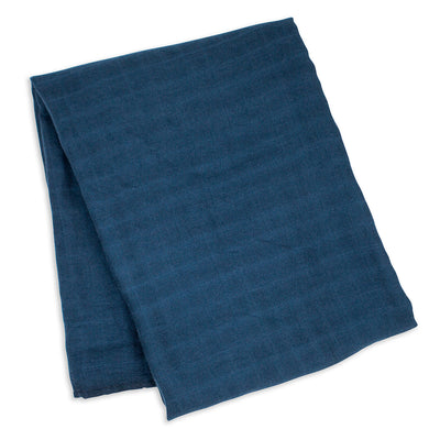 lulujo Bamboo Receiving Blanket (Navy)