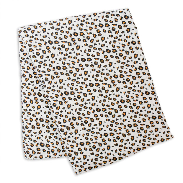 lulujo Bamboo Receiving Blanket (Leopard)