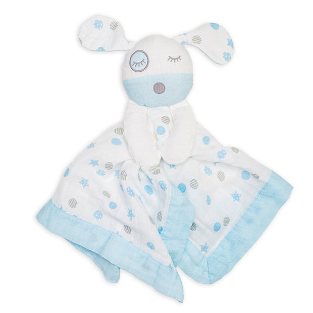 lulujo Puppy Muslin Lovie
