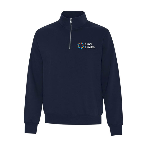 Sinai Health Quarter-Zip Screen Logo Sweatshirt (Dark Blue)