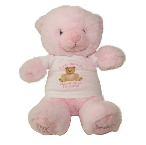 I was born at Mount Sinai Teddy Bear (Pink)