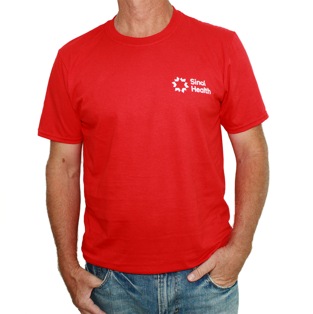 Sinai Health Men's Crew Neck Cotton Tee (Red)