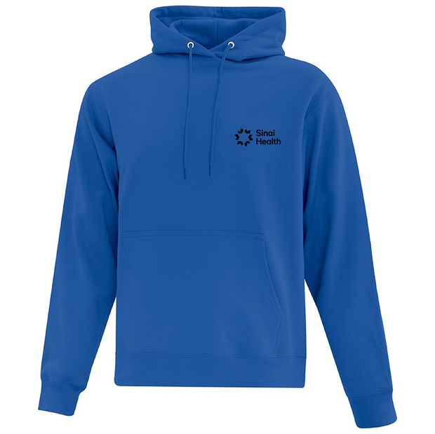 Sinai Health Branded Pullover Hoodie Sweatshirt (Royal Blue)