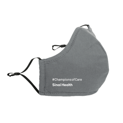 Sinai Health Cotton Mask #ChampionsofCare (Grey)