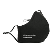 3-Pack Sinai Health Cotton Mask #ChampionsofCare (Black)