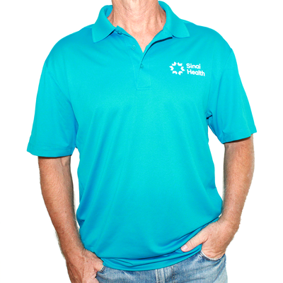 Sinai Health Men's Sport Polo (Teal)