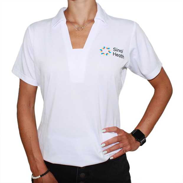 Sinai Health Women's Sport Polo (White)