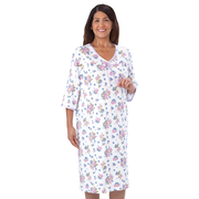 Women's Open Back Flannelette Nightgown