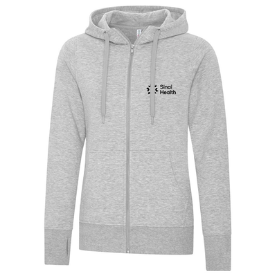 Sinai Health Women's Full Zip Sweatshirt (Grey)