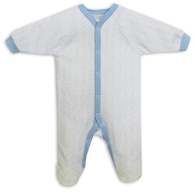 Itty Bitty Baby Blue Star Footie