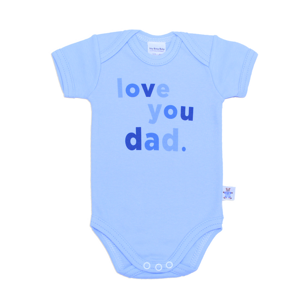 Itty Bitty Baby I Love You Dad Onesie in Blue