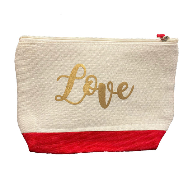 LOVE Zippered Pouch