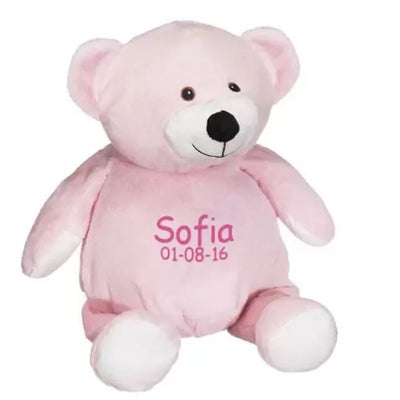 Personalized Stuffed Animal - Pink Teddy Bear