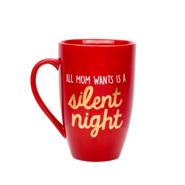 Pearhead Mug All Mom Wants is a Silent Night