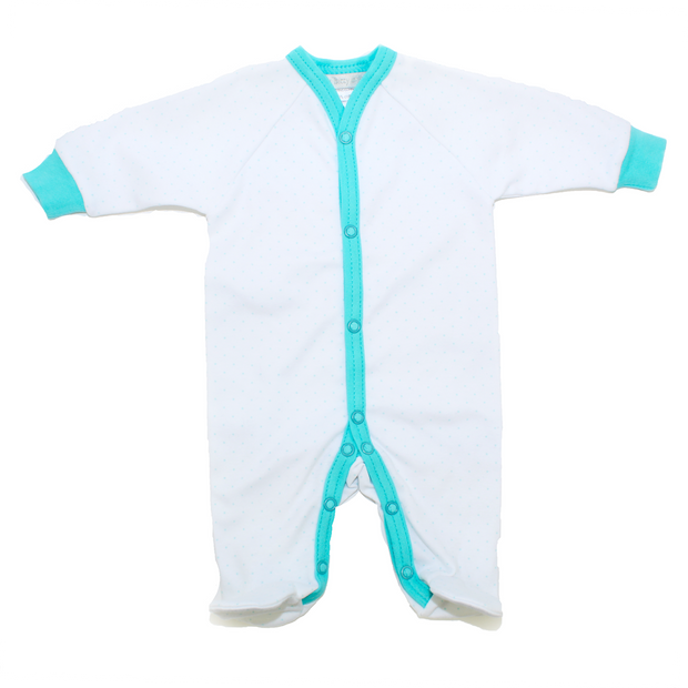 Itty Bitty Baby Footie Sleeper (Turquoise)