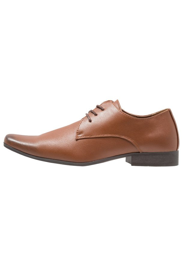 THREE EYELET PLAIN DERBY TAN