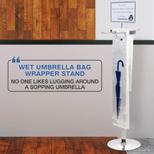 Load image into Gallery viewer, Wet Umbrella Bag Wrapping Stand - Includes Sign and 100 Bonus Bags