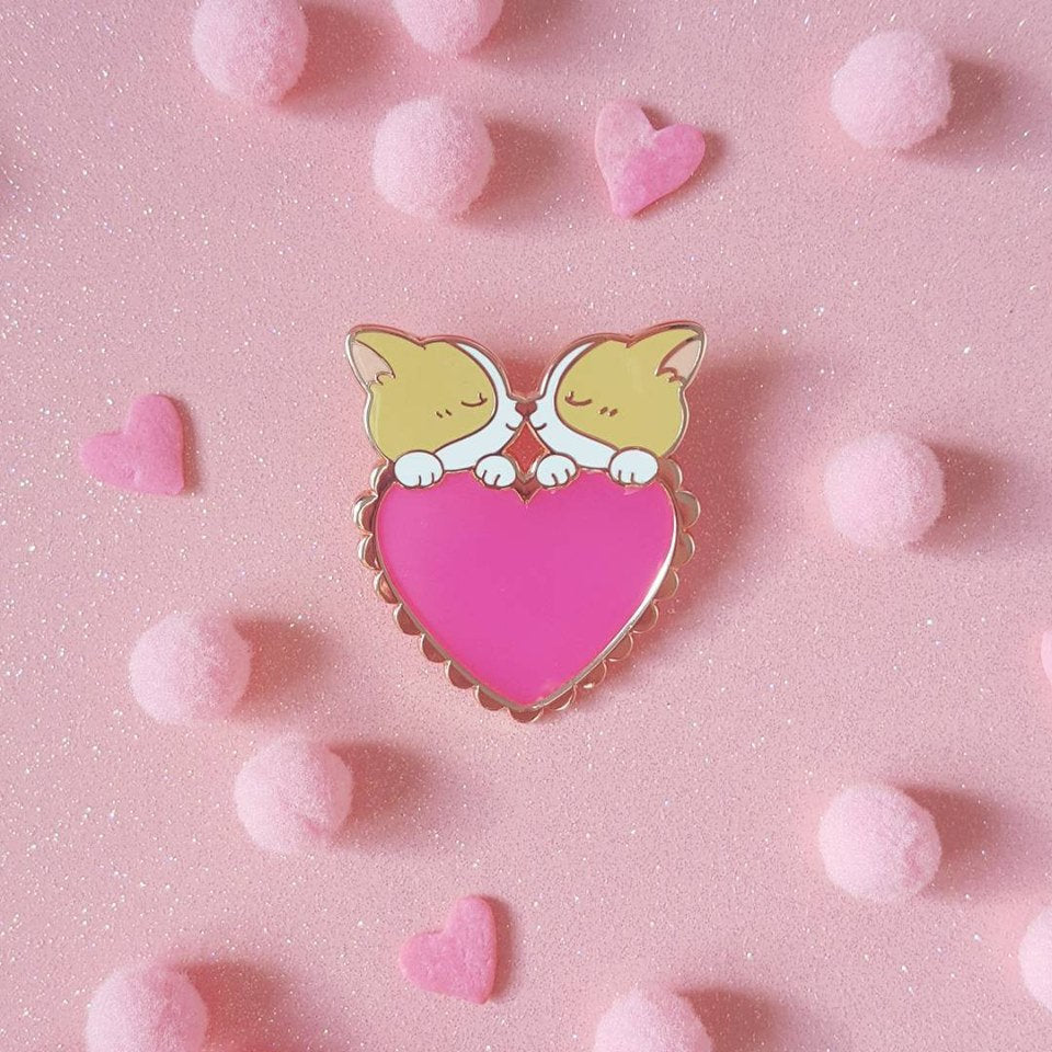 Corgi Love Pin