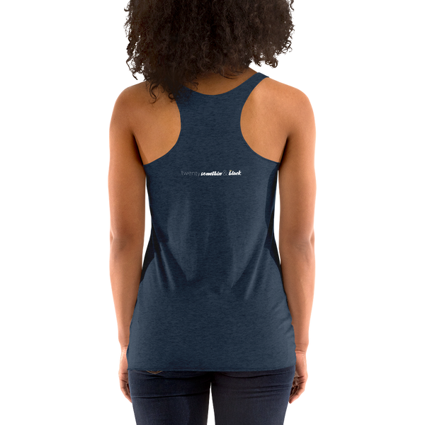 """Rise, Grind and Shine"" Women's Racerback Tank"