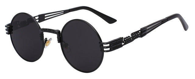 NEW Designer Round Metal Wrapped Sunglasses