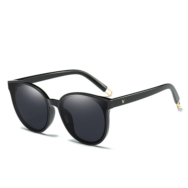 Elegant Flat Top Cat Eye Sunglasses