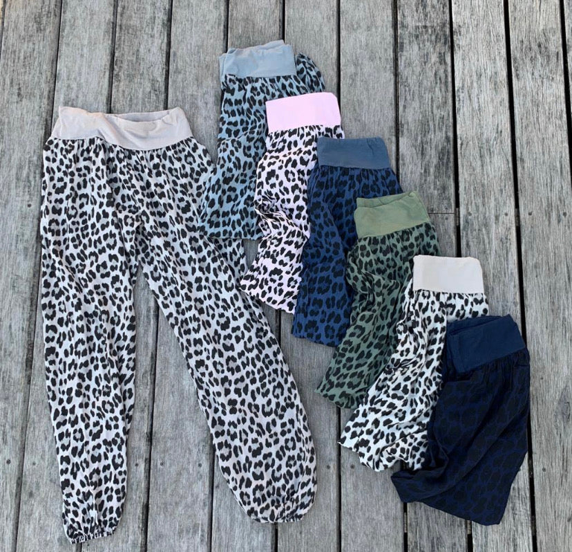 Summer Leopard Print Slouchies