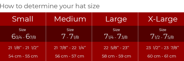 How to determine your hat size