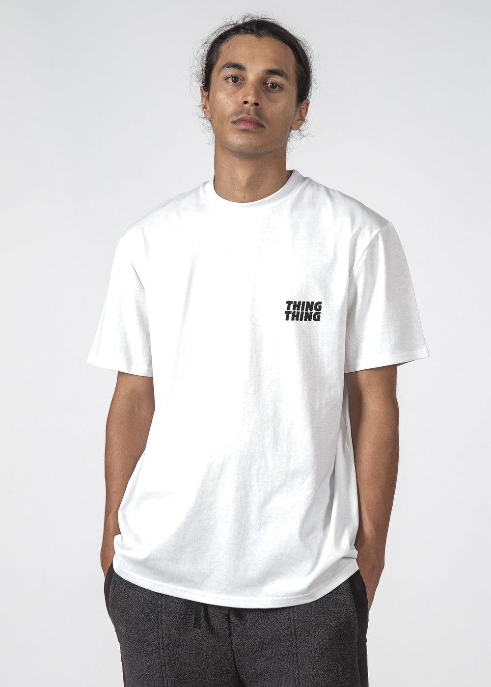 THE MID TEE WHITE STACK