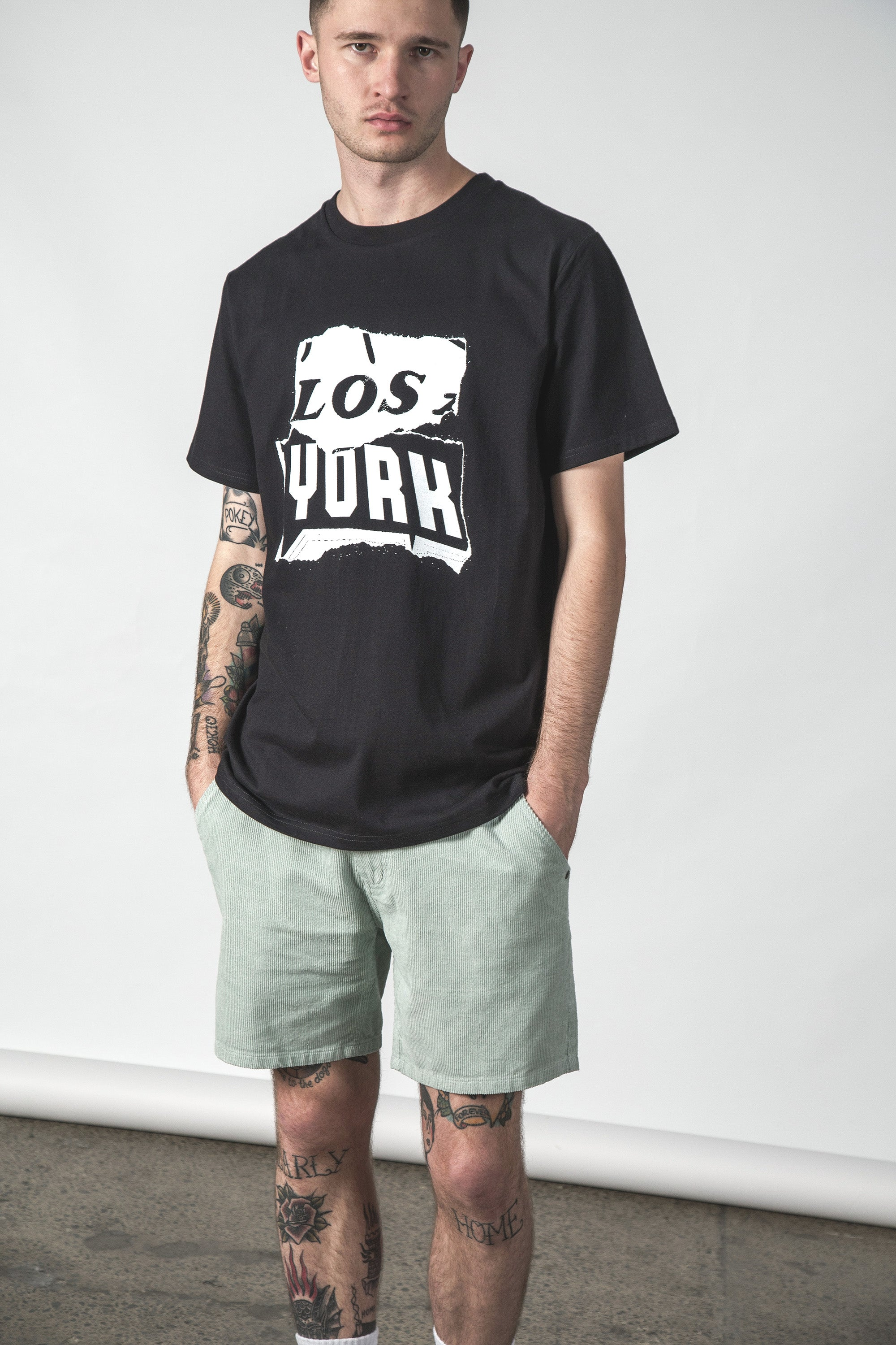 LOS YORK MID TEE BLACK