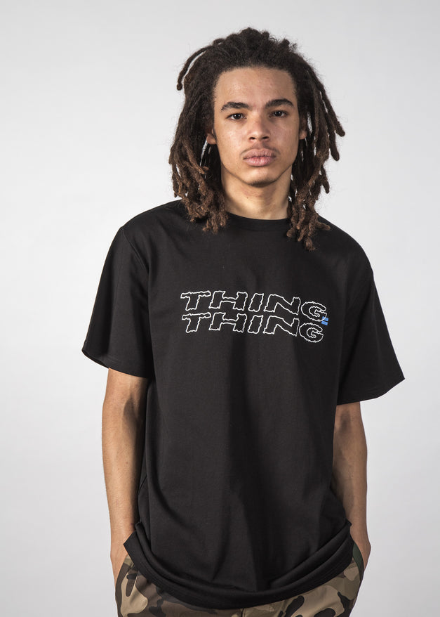 RAW THINGS TEE BLACK