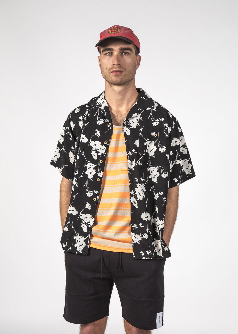 TROPE SHIRT BLACK FLORAL