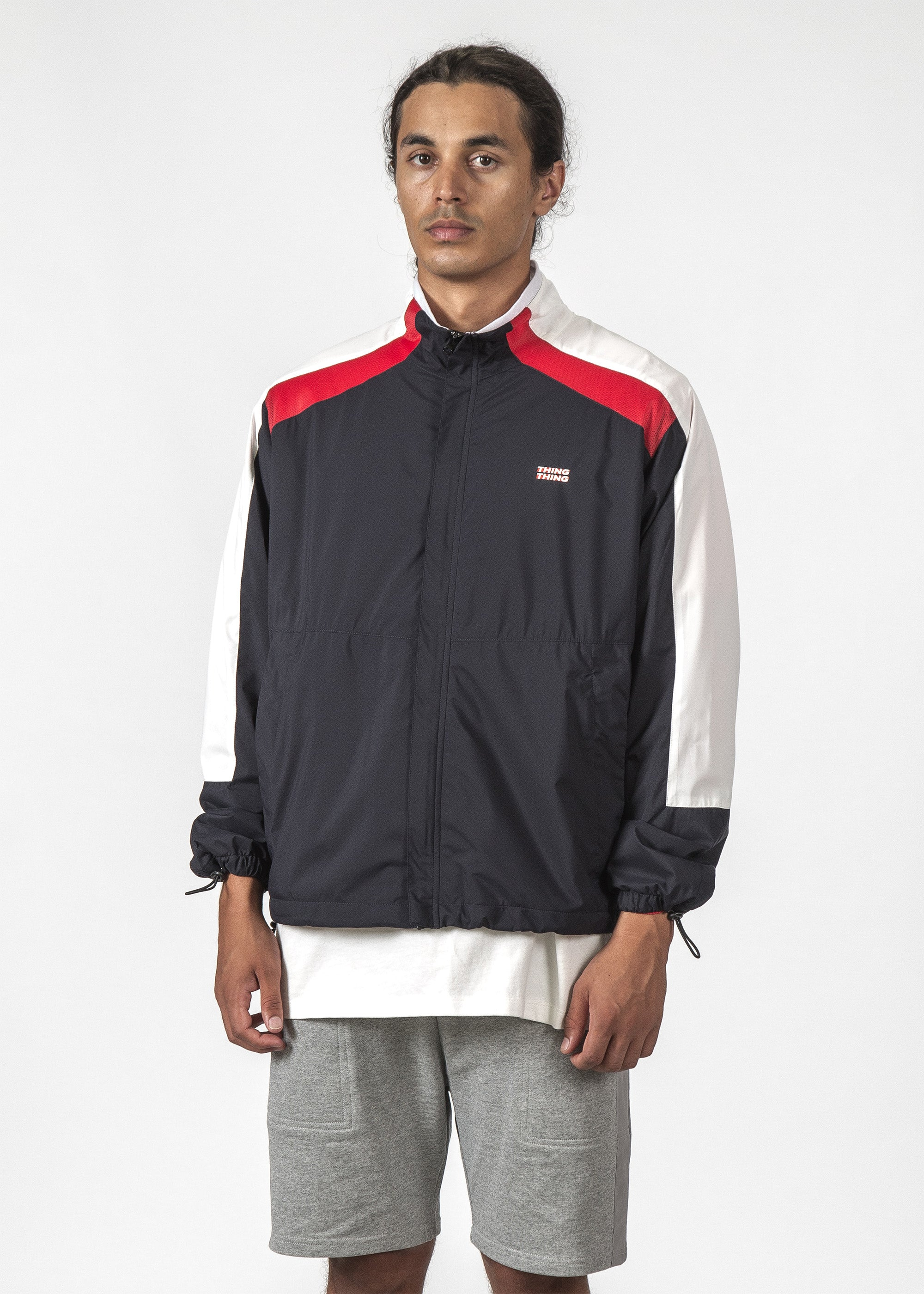 THE METRIC JACKET NAVY/RED/WHITE