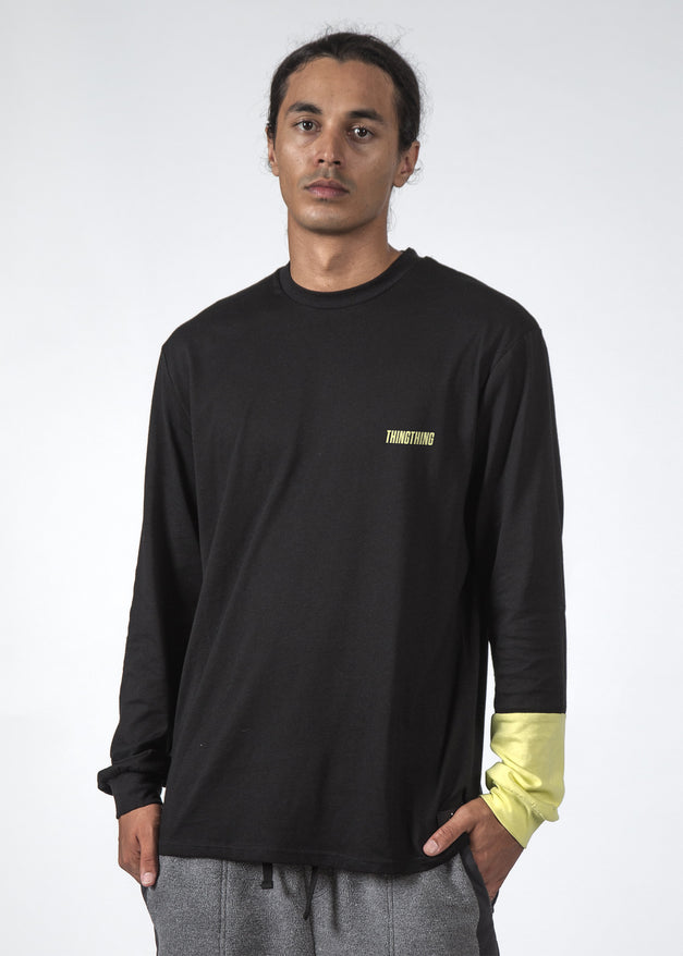 THE REV LS TEE BLACK/NEON