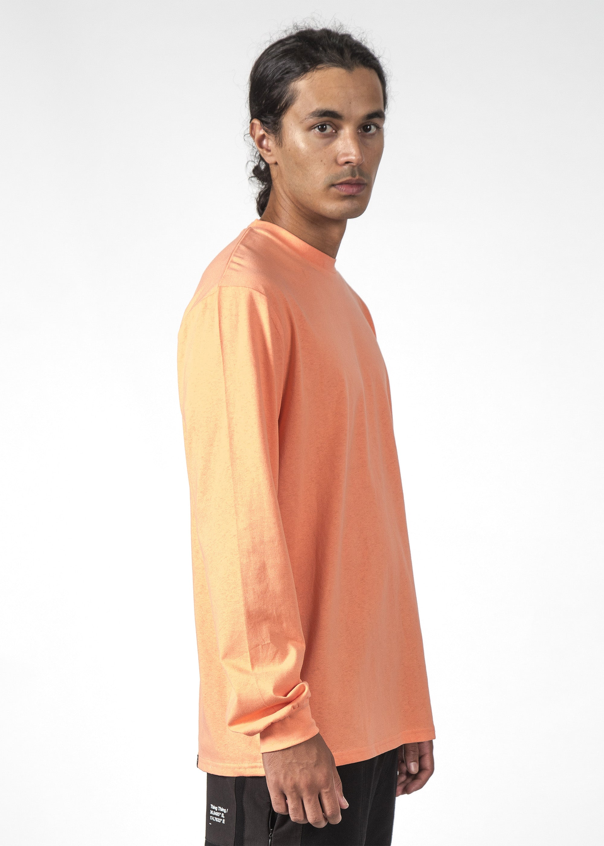THE REV LS TEE PEACH/BLACK