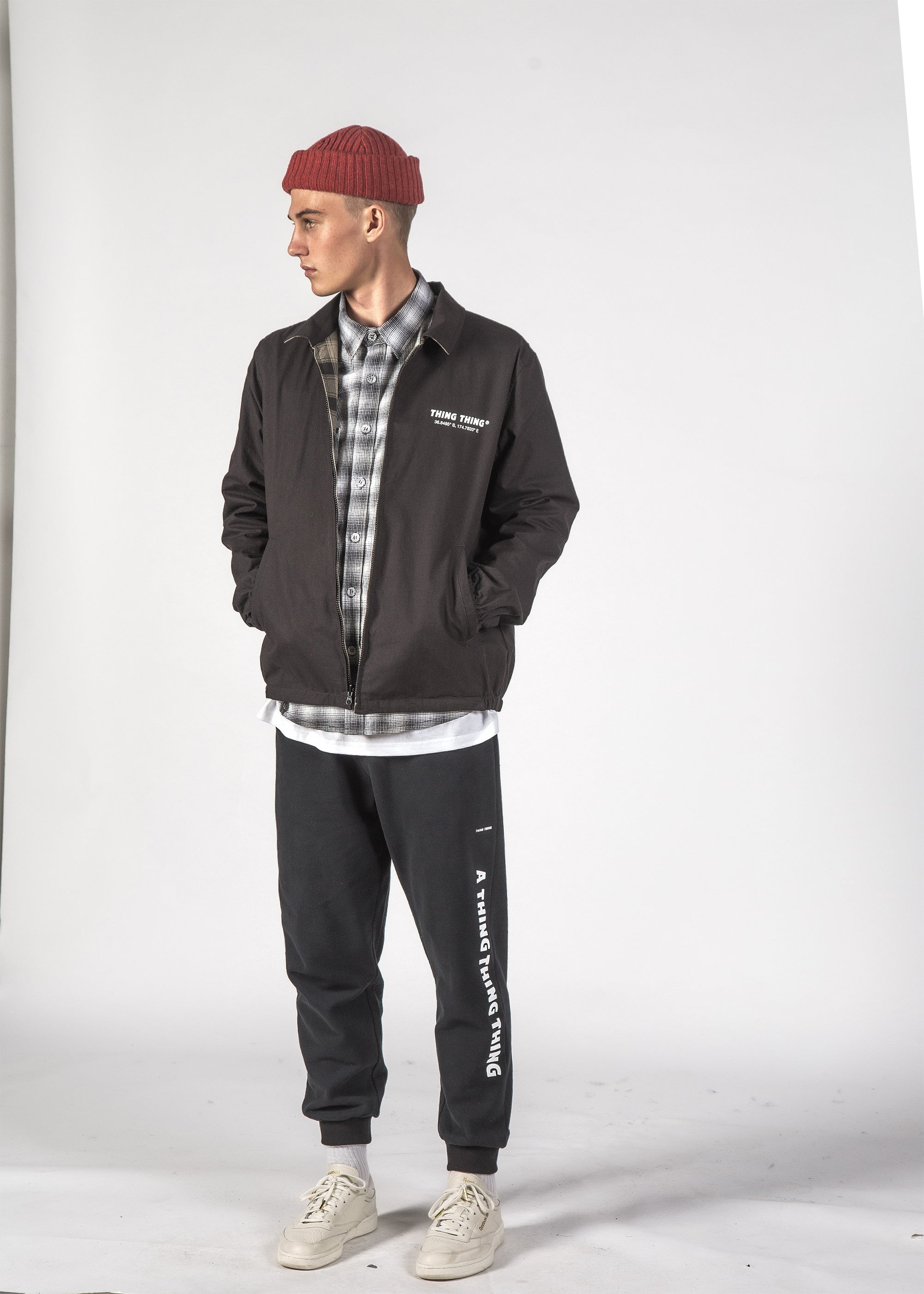 REVERSIBLE MACH JACKET - KHAKI PLAID