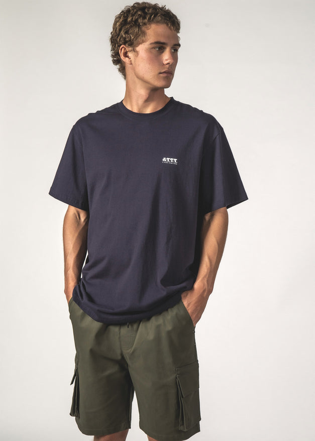 SALE - ATTT ARC SS TEE - Navy ATTT Arc
