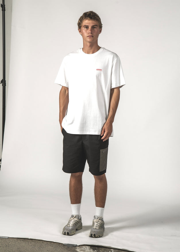SALE - ATTT ARC SS TEE - White ATTT Arc
