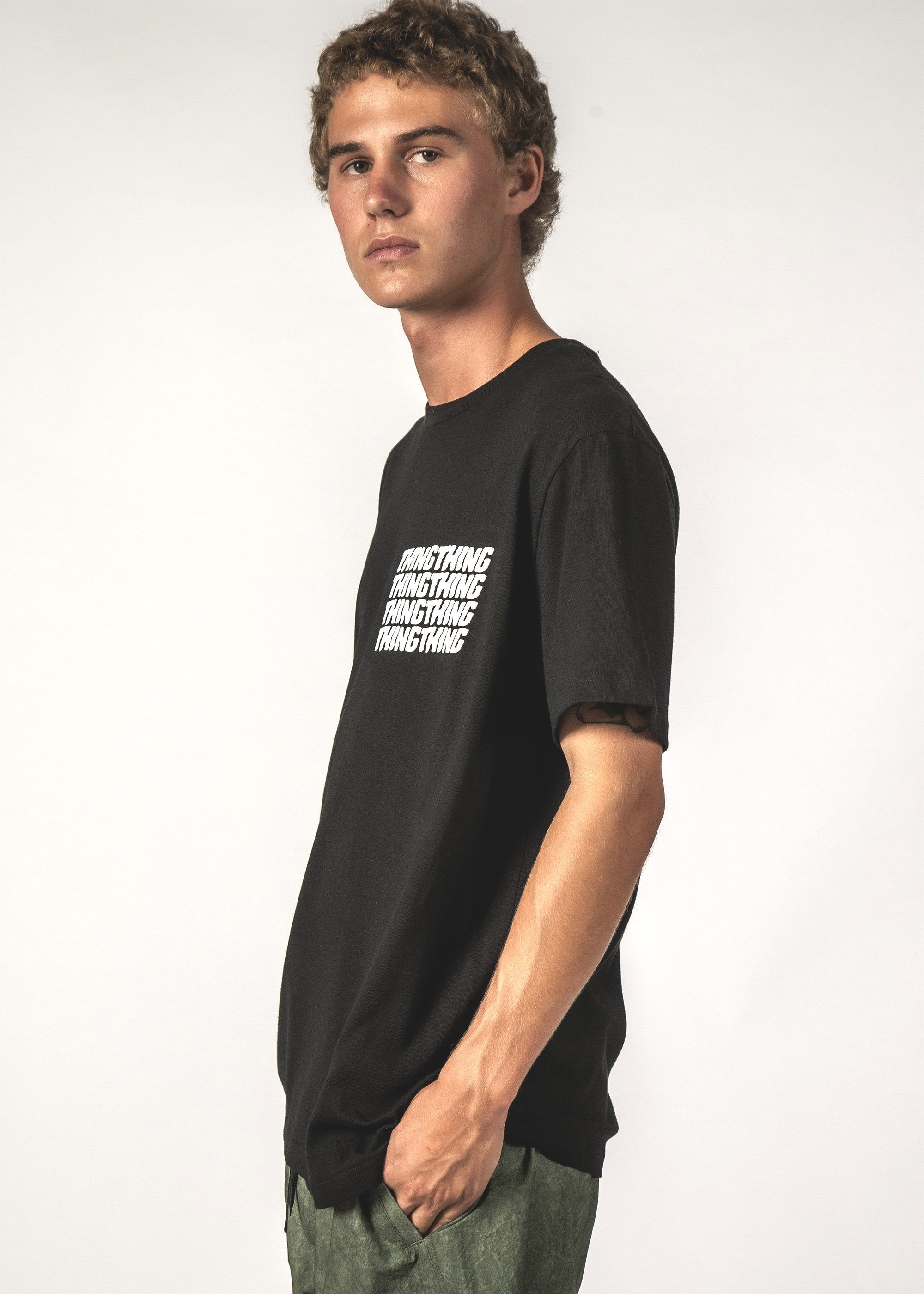 STACKER SS TEE - Black Stacker