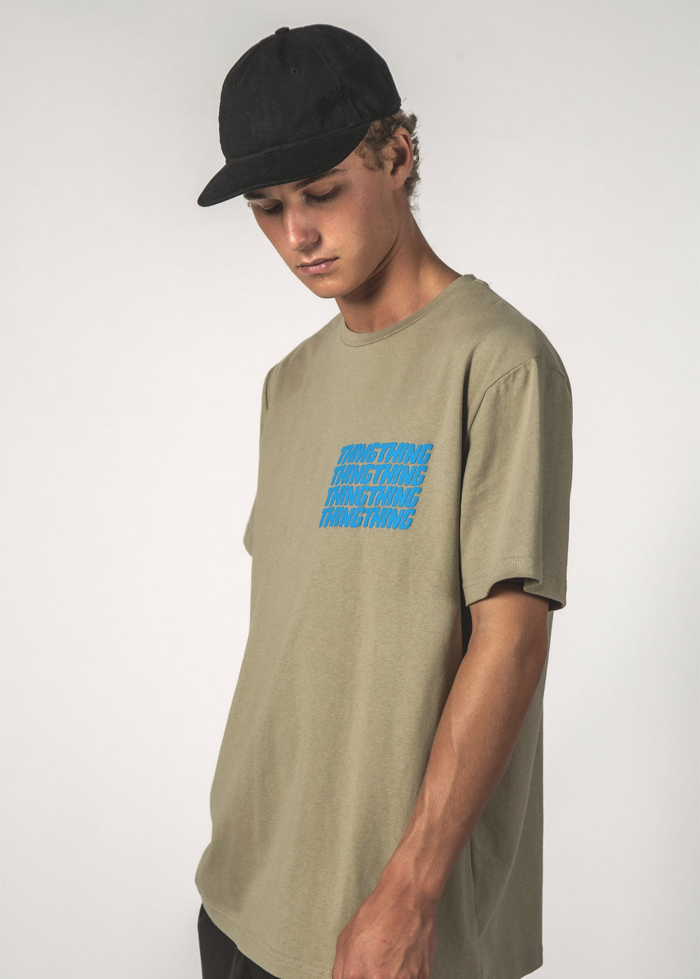 SALE - STACKER SS TEE - Oat Stacker