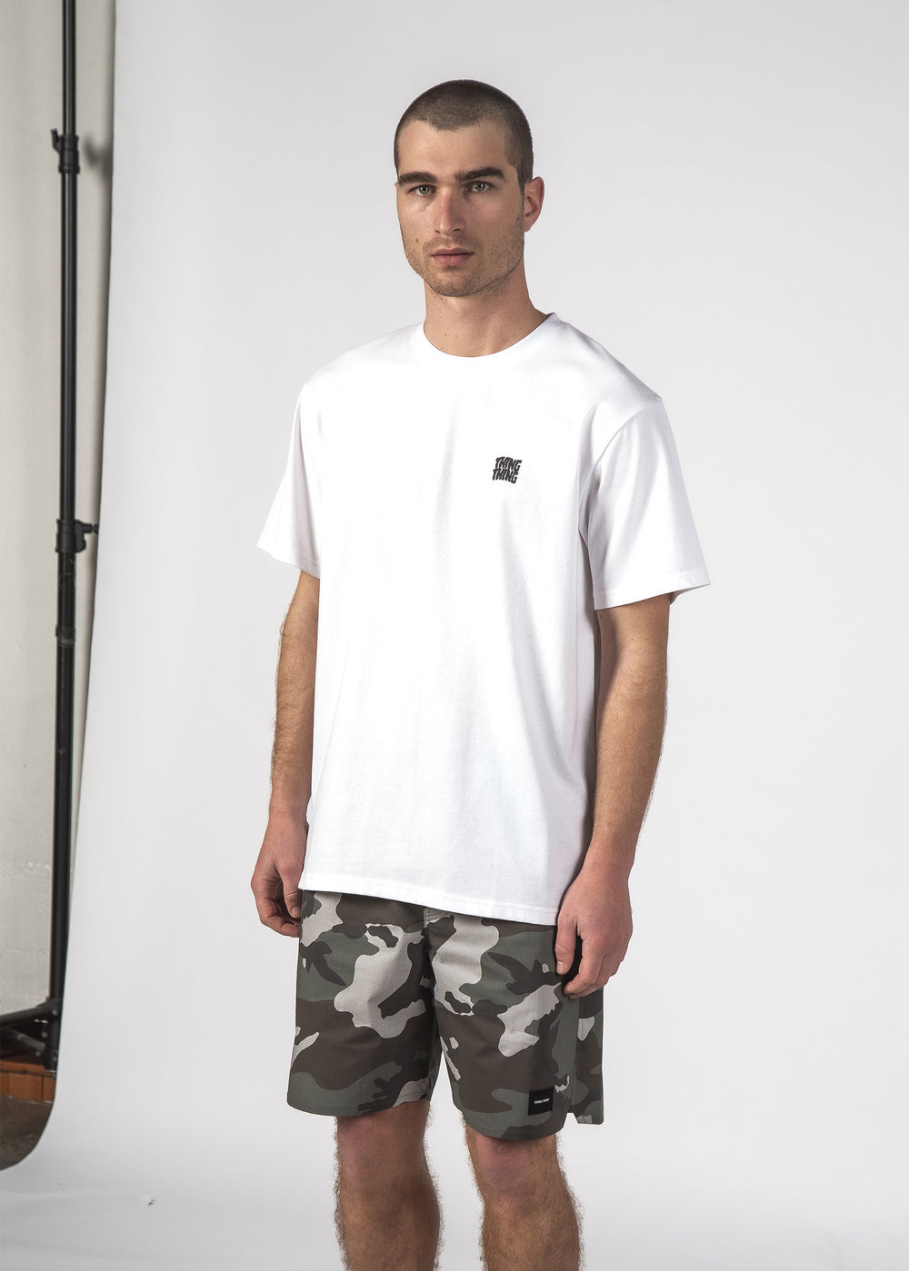 STAGGER S/S TEE WHITE