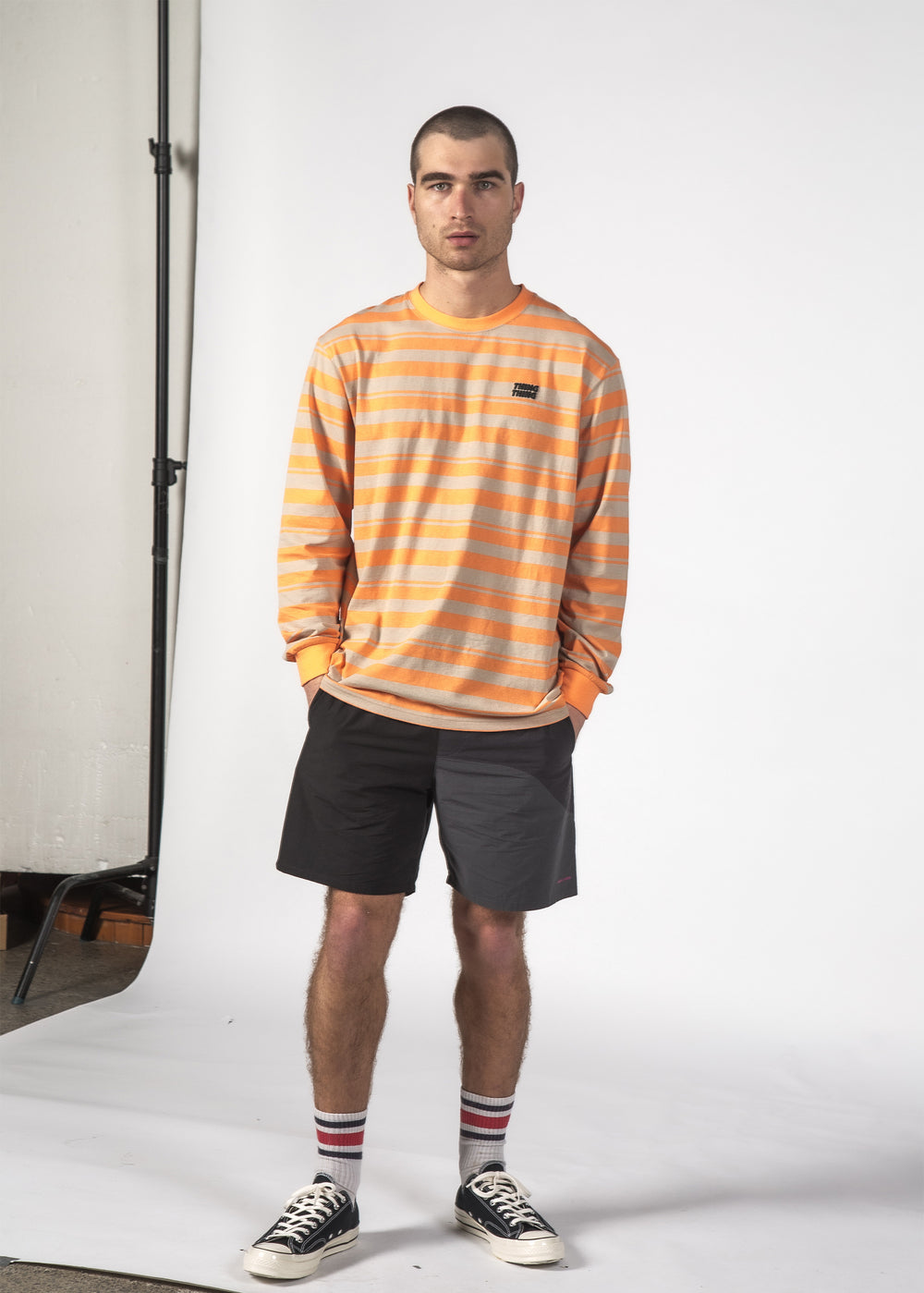 STRIPED L/S TEE OB STRIPE