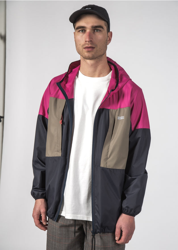 PACK WINDBREAKER MAGENTA-NAVY-EARTH