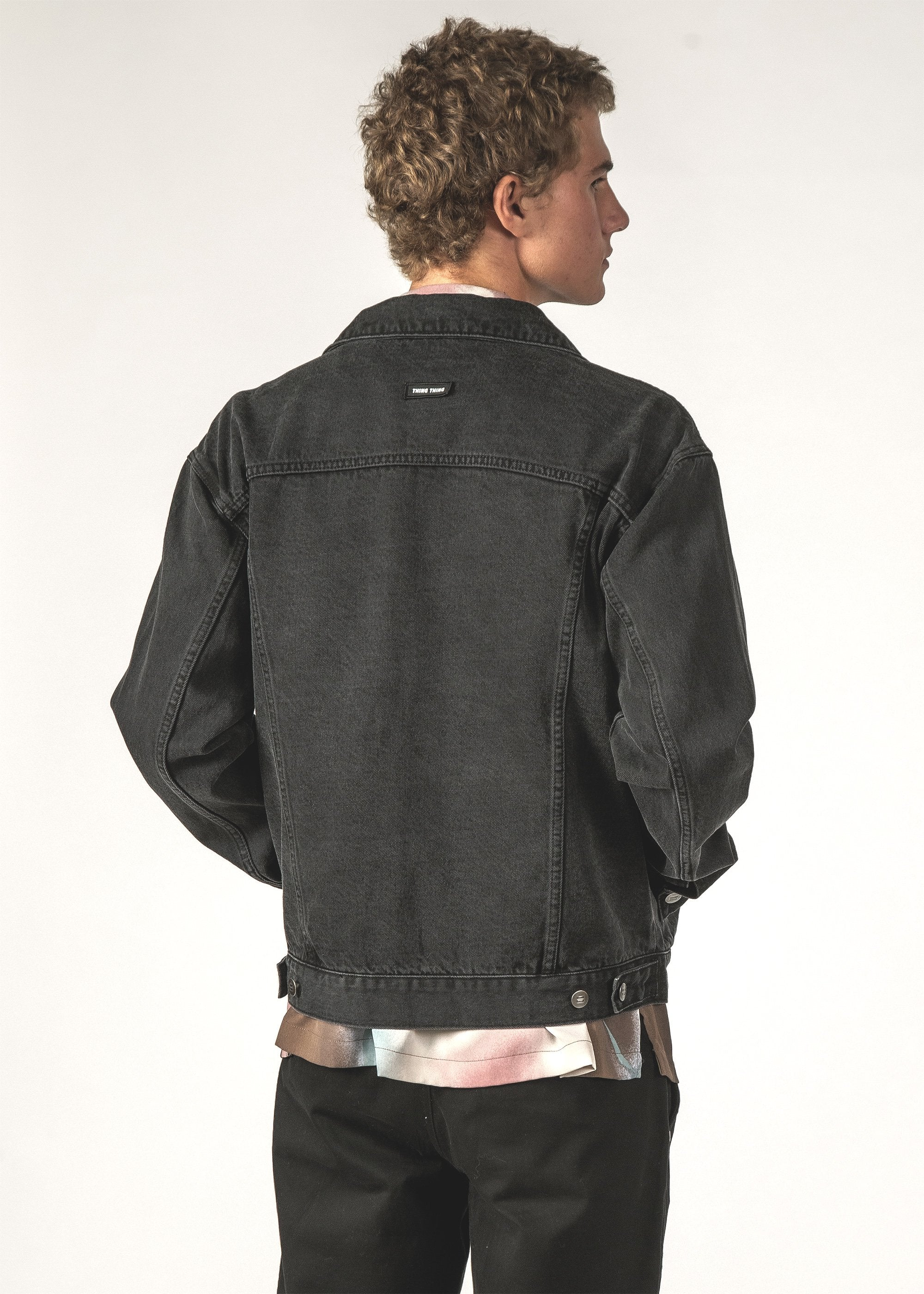 EGO DENIM JACKET - Black Wash
