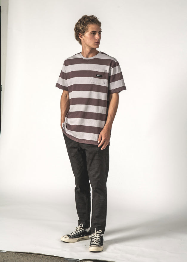 MAX POCKET TEE - Bruise Stripe