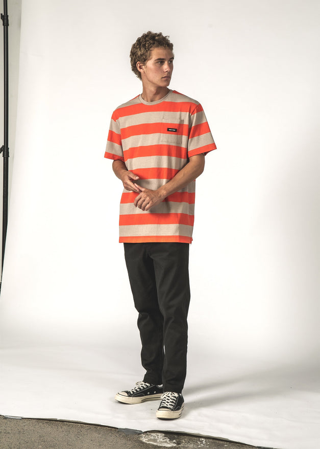 MAX POCKET TEE - Fire Stripe