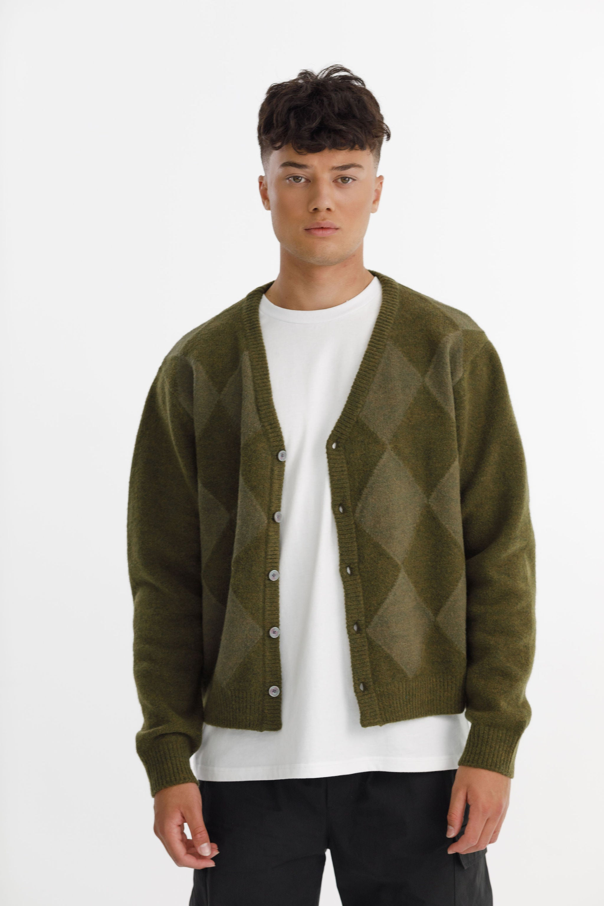 GRAND CARDI - Army/Green