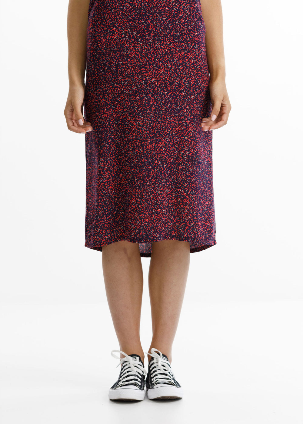 WILDE DRESS - Ditsy Red