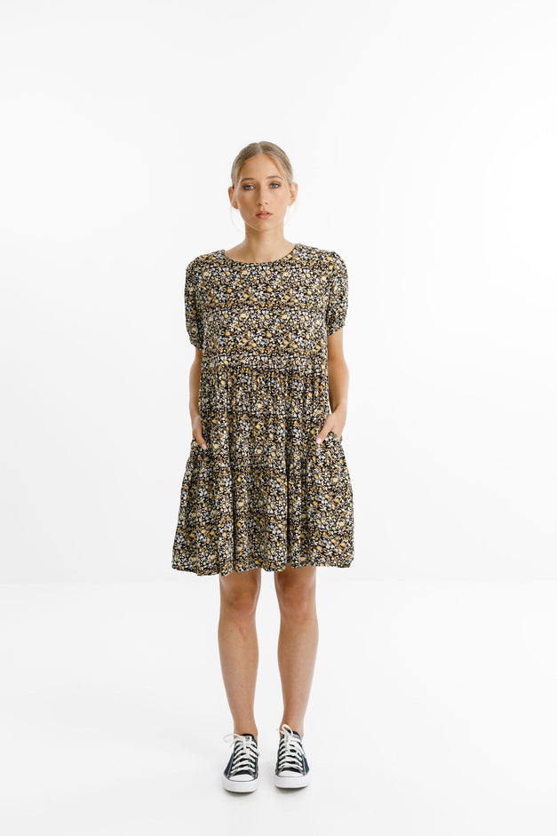 WHIRL DRESS - Autumn Leaf